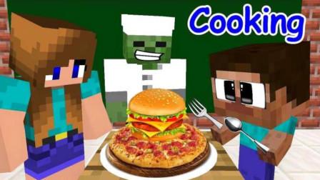 MC動畫:怪物學?!蹲鲲執魬稹?,Him的餐廳被打劫了!