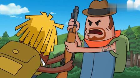 搞笑吃鸡动画:霸哥和马可波为了一把98K相爱相杀!这俩货神经病吧