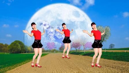 益馨广场舞对着月亮说声我爱你 舞蹈美美哒