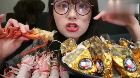 吃播阿尤吃1000元海鲜盛宴,十年卖出一百万只生蚝真的不靠吹