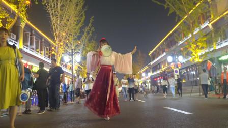 点击观看《太阳当空照NANA舞蹈视频 夜市学跳跳芒种舞蹈》