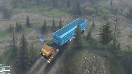 旋转轮胎:我开的大货车,从10米高山壁冲下,把我吓出冷汗