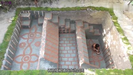 建筑牛人再现古老技术,打造结构独特的三层泳池,这也太会享受了