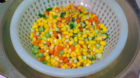 中国美食,玉米也可以这么好吃,烙出来又香又脆