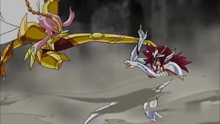 圣斗士星矢:幼狮座vs天蝎座,青铜圣斗士与黄金圣斗士的激战!
