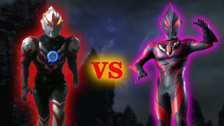 欧布奥特曼暗耀形态VS黑暗捷德!奥特曼格斗进化0修改皮肤!