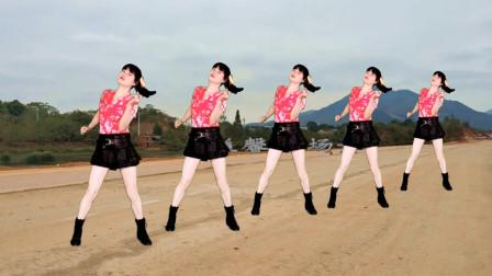 益馨广场舞《天涯》动感64步大众健身舞教学