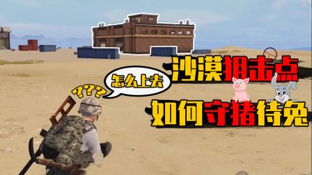 和平精英:沙漠最强狙击点?屋顶守着收装备就行了!