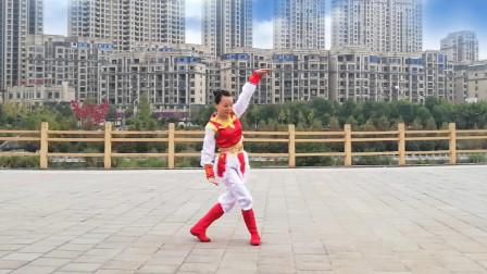 晨練健身蒙古舞永遠的贊歌越跳越年輕越跳越健康