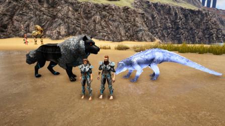 方舟生存进化-VS系列 变色猪鄂VS机械狼 谁更厉害