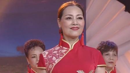 旗袍秀《我的祖国》:红色旗袍金镶边,盛世美貌艳连天!