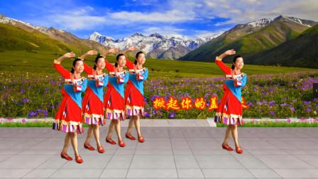 小慧广场舞《掀起你的盖头来》新疆舞24步教程