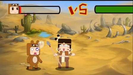 迷你世界格斗动画第31集:卡卡再战熊孩子