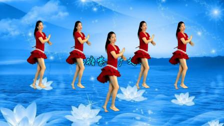 点击观看《鹤塘紫儿广场舞《欢乐的跳吧》印度舞64步》