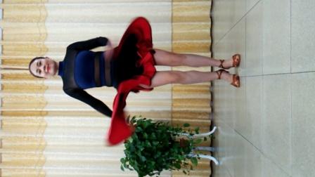 洁琼广场舞视频 基本恰恰舞训练原地换重心  横移