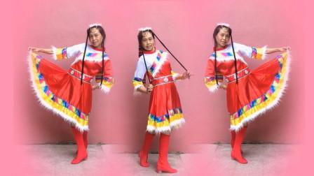 点击观看《经典藏族舞《欢迎你到康巴来》舞步简单易学》