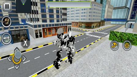 走走云游戏解说:变形机器人英雄,白虎机器人飞天遁地,一枪射爆敌人