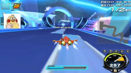 QQ飞车:新图《幻音城假日》跑法,比手游快多了