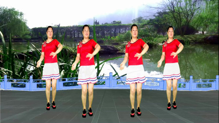 点击观看《鼓点好踩32步健身舞视频回到山沟沟 陕北经典民歌广场舞》
