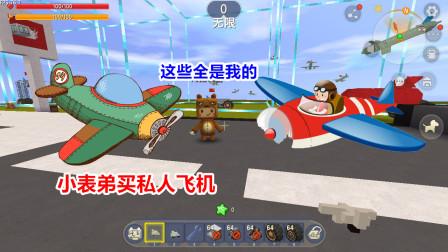 迷你世界:小表弟偷取大表哥的钻石,却拿去购买私人飞机