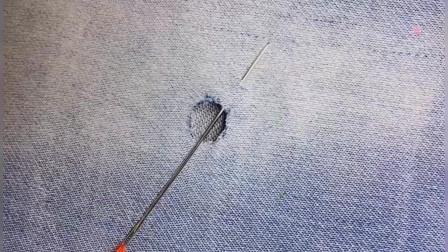 衣服上有破洞先别扔,教你手工刺绣针法,修复后无痕迹又很漂亮