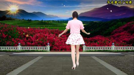 点击观看《华美舞动广场舞《甘心情愿爱着你》歌曲优美抒情 舞步简单易学》