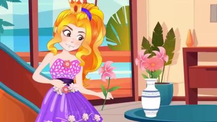 艾达琪偷了紫悦的鲜花,被阿坤发现了 小马国女孩游戏