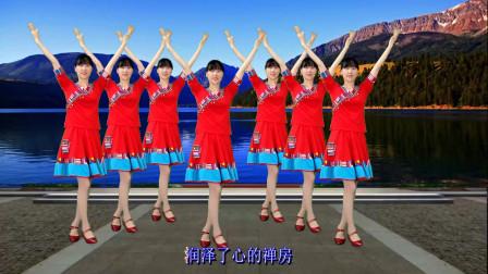 藏舞风格广场舞《拉萨雨夜》48步简单易学,好听又好看
