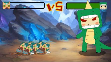 迷你世界格斗动画第47集:野人家族大战恐龙迷斯拉