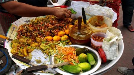 印度街头美食,怪味膨化米,味道怪异,为何能风靡印度?