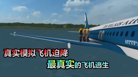 手机游戏:真实模拟飞机迫降,最真实的飞机逃生,跟现实中像么?