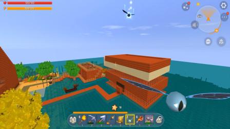 迷你世界:用地心之眼在小伙伴楼顶上使用,能找到地牢吗?