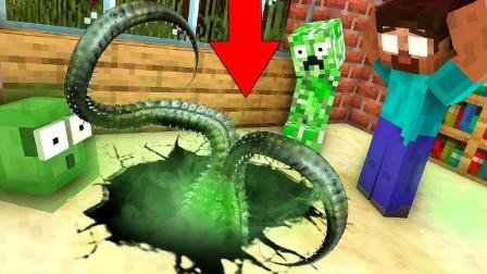 MC怪物学校《寻宝记》,学校地底出现神秘洞穴,怪物们地底探险!