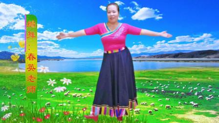 渭南踏舞飞扬广场舞《花开的地方》原创 春英
