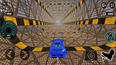 走走云游戏解说:不可能的特技赛车,时速180冲上高空倒立赛道