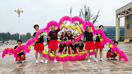中老年扇子舞视频吉祥中国年 好心情蓝蓝广场舞
