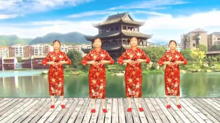 情歌广场舞《桃花朵朵开》时尚好听 节奏动感 跳出美好生活