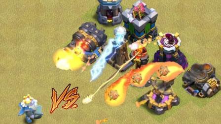部落冲突:皇家幽灵VS所有防御塔,还能单挑12级基地吗?