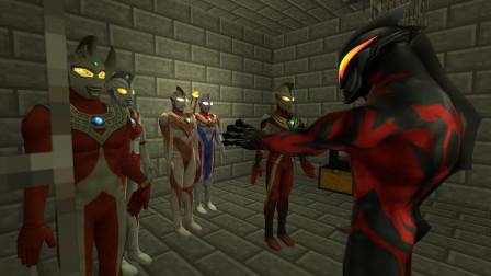 贝利亚在地牢关注了五个奥特曼兄弟