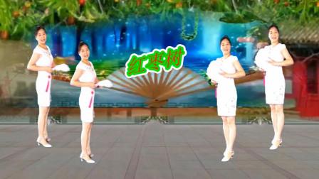 点击观看《芙蓉一米阳光广场舞《红枣树》扇子舞分解教学》