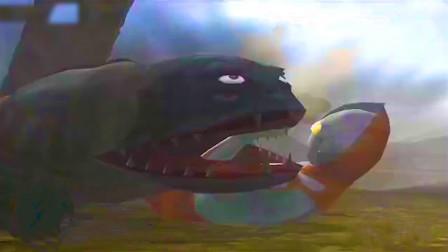 初代奥特曼大战毒气怪兽凯姆拉,看起来不太聪明的样子却很强