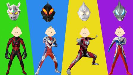 奥特曼益智奇趣游戏:帮奥特曼们找到正确的面具吧!