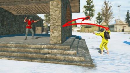 绝地求生:斧头从50米高掉下来,能砸死人吗?结局看懵北美第一