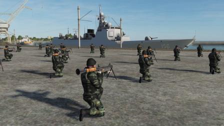 一艘052C驱逐舰靠港期间,能抗得住100名RPG手的围攻吗,游戏推演