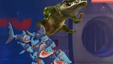 饥饿鲨世界:由9条鲨鱼一起组成的帮派鲨,咬合力有多强大?