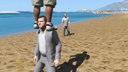 GTA5:麦克和小富表演杂技老崔看热闹