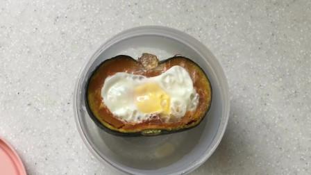 《韩国农村美食》鸡蛋南瓜蒸熟,撒入芝士碎烤一下,更美味
