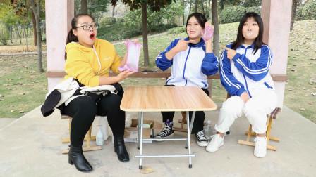 老师带学生们户外玩无硼砂泥,没想学生却用泡泡糖做泥,能成功吗
