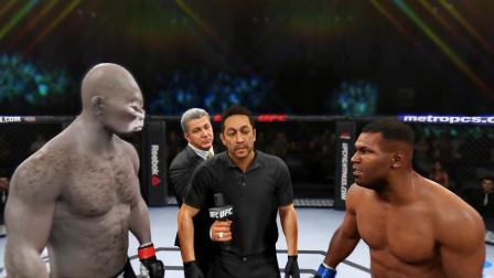 拳王泰森vs阿維塞瑟拳手,泰森的組合拳直接ko對手