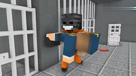 我的世界MC动画:怪物学校《越狱挑战》,凋零骷髅巧克力拐跑美女狱警!